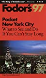 New York City '97, Fodor's Travel Publications, Inc. Staff, 0679032703