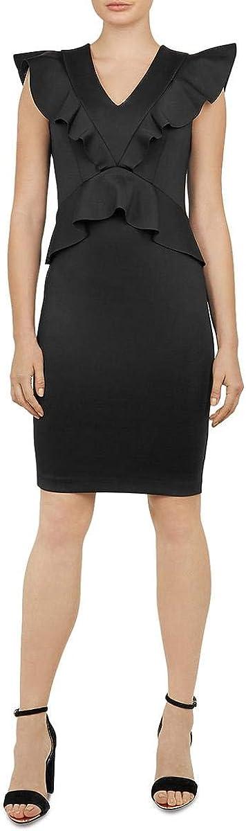 Ted Baker Womens Alair Knit Ruffled Bodycon Dress