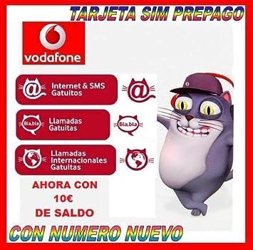 TARJETA SIM PREPAGO VODAFONE GATUITA: Amazon.es: Electrónica