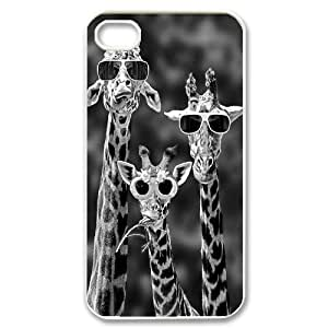 Giraffe Original New Print DIY Phone Case for Iphone 4,4S,personalized case cover ygtg561164