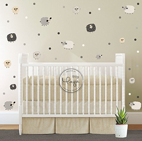 Sheep wall stickers baby wall decal removable stickers kids wall decal baby