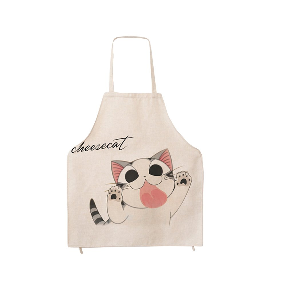Children's Fashion Personalized Cartoon Aprons Creative Cat Funny Kitchen Bib Apron Kitchen Cooking Baking Housework Apron