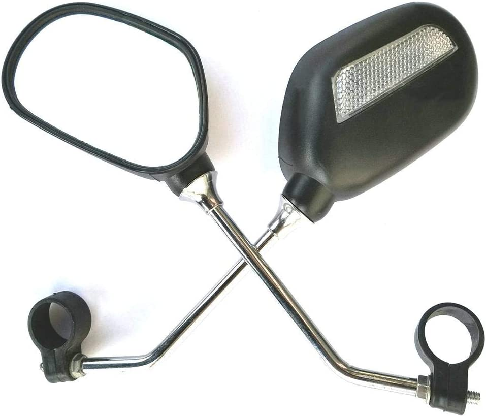 2X Universal Lenkspiegel Set Fahrradspiegel Rückspiegel Schwarz Verstellbar 360°