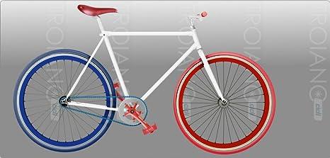 Bicicletta Scatto Fisso Uomo France Fixed Super Leggera Amazonit