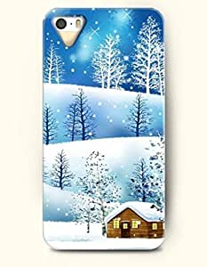 diy zhengOOFIT Phone Case design with a Frozen and Snow-covered Land - Merry Christmas for Apple iphone 5/5s 5g