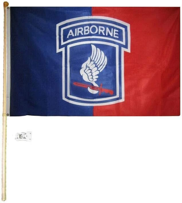 5 Foot Wooden Flag Pole Kit Wall Mount Bracket With 3x5 EGA Marines House Flag