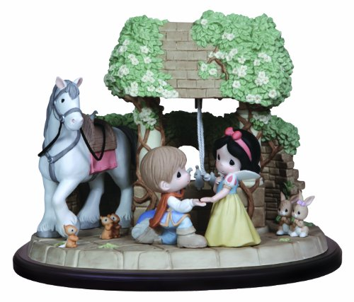 Precious Moments, Disney Showcase Collection, You Are My Wish Come True, Bisque Porcelain Sculpture, Masterpiece Collection Limited Edition, (Precious Moments Disney Snow)