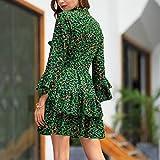 Zalanala Womens Leopard Printed Boho Maxi Dress
