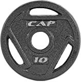 CAP Barbell Gray 2-Inch Olympic Grip Plate, 2.5 Pounds, Pack of 4