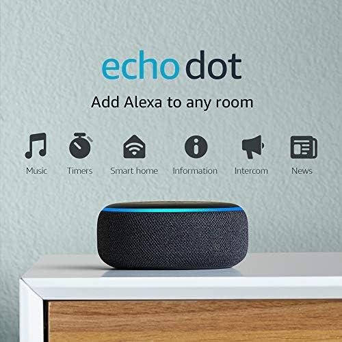Echo Dot (third Gen) - Smart speaker with Alexa - Charcoal