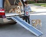 PetSafe Solvit Deluxe Tri-Scope Telescoping Pet Ramp or Carrying Case, 28 in. - 70 in., Portable Lightweight Aluminum Dog Ramp
