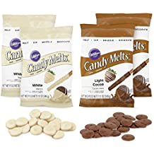 Wilton Set, 4-Piece Kit Light Cocoa and White Melts Candy Multi-Pack Baker and Decorator Bundle, 2109-4266, 12 Ounce