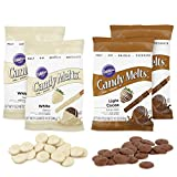 Wilton Light Cocoa and White Candy Melts Set, 4-Piece - Wilton Candy Melts Kit