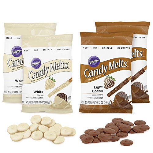 (Wilton Light Cocoa and White Candy Melts Candy Set, 4-Piece)