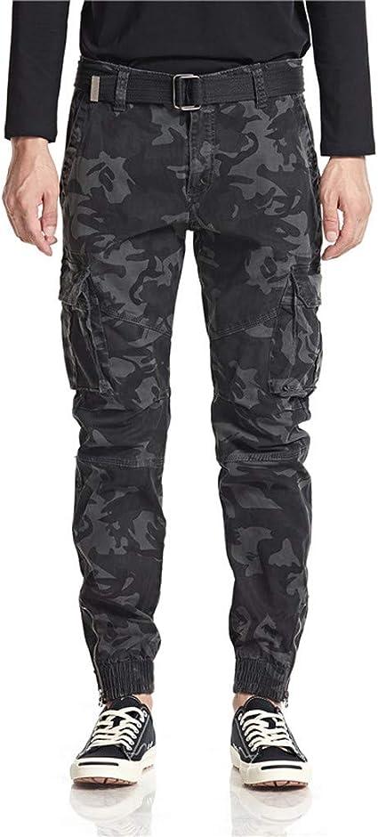 Hombre Carga Trabajar Pantalones Largos con Bolsillos Estilo ...
