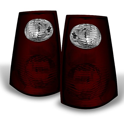 For Ford Explorer Sport Trac Model Pickup Red Smoke Tail Lights Brake Lamp Replacement Left + Right Pair