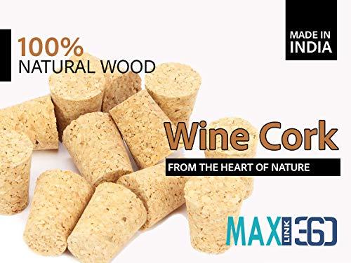 MAXLINK 360® 6pcs Wine Corks – Natural Wooden Premium Straight Cork Stopper for Bottled Wine(2.20 x 2.20 x 3.50 cm) Price & Reviews