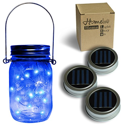 Blue Solar Garden Fairy Lights - 5
