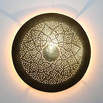Orientalische Wandleuchte Marokkanische Handmade Wandlampe Hilal