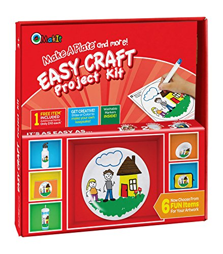 Makit Products Make a Plate and More - Easy Craft Project Kit -