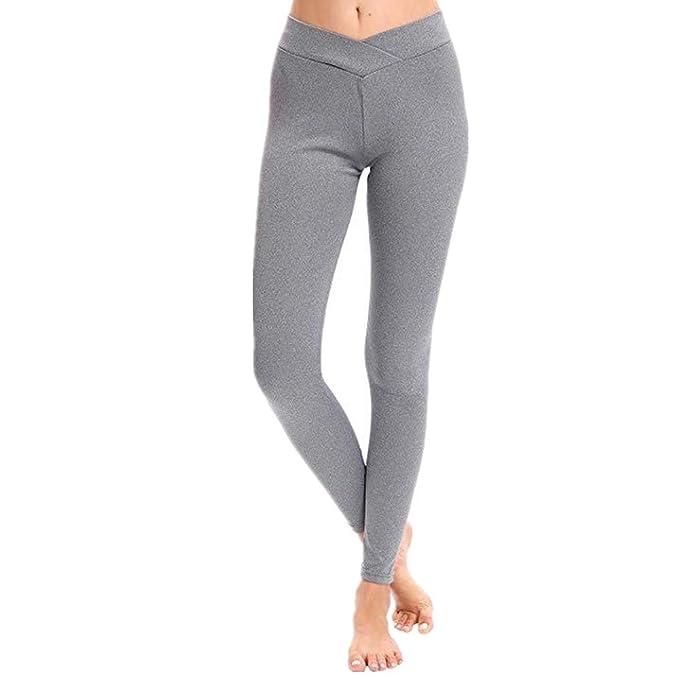 SXZG Pantalones De Yoga De Cintura En V Mujer Pantalones De ...