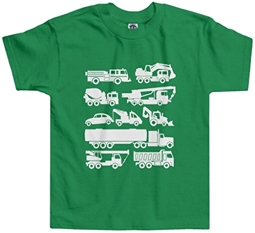 Threadrock Little Boys' Trucks Toddler T-Shirt 4T Kelly Green
