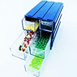 Lonjew 136 Interlockable Storage Box with Each Other. Lockable Bead Organizer, Storage Box and Organizer Transparent Plastic Drawers.