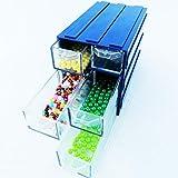 Lonjew 136 Interlockable Storage Box with Each Other. Lockable Bead Organizer, Storage Box and Organizer Transparent Plastic Drawers.