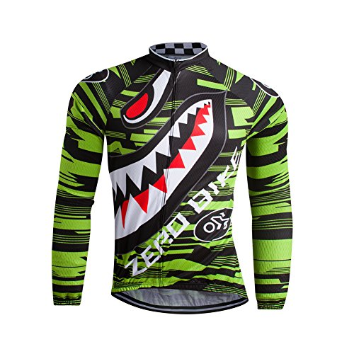 ZEROBIKE Men's Soft Long Sleeve Breathable Bicycle Cycling Jersey Polyester Clothing Outdoor Sports Fall Autumn