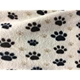 Puppy Paws Brown Anti-Pill Polar Fleece Fabric Polyester 13 Oz 58-60""