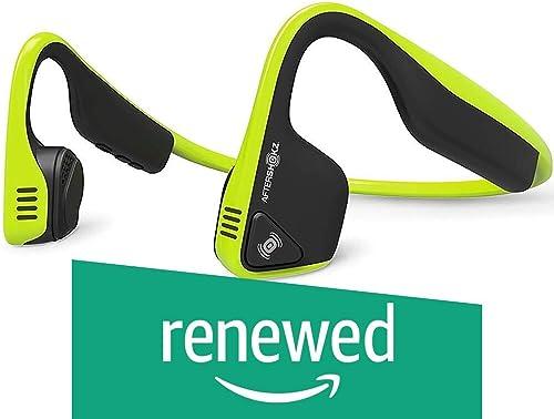 Aftershokz AS600IG Trekz Titanium Open Ear Wireless Bone Conduction Headphones, Ivy Green Renewed