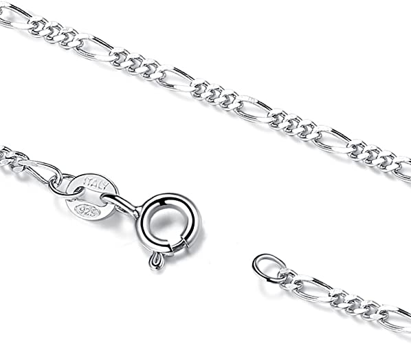 NICKEL FREE Made in Italy Sterling Silver Diamond Cut 1mm ROPE Chain Necklace