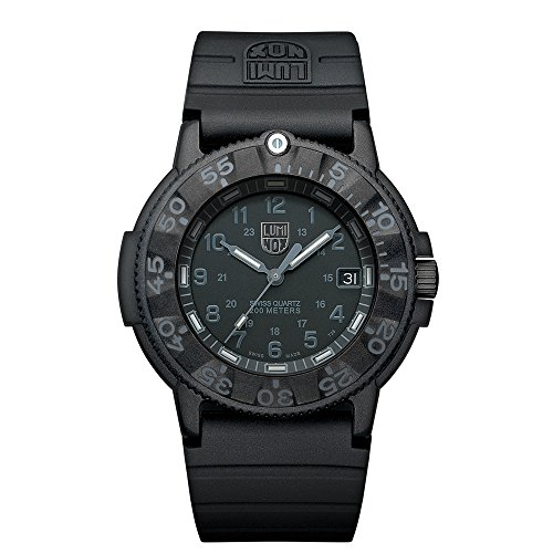 Luminox Men's 3001.BO Quartz Rubber Black Dial (Luminox Divers Watch)