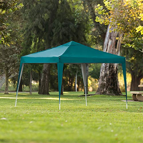 Best Choice Products 10x10ft Outdoor Portable Adjustable Instant Pop Up Gazebo Canopy Tent w/Carrying Bag Green