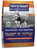 Natural Balance Wild Pursuit High Protein Grain Free Dry Dog Food, Chicken, Turkey Meal & Quail Formula, 22-Pound