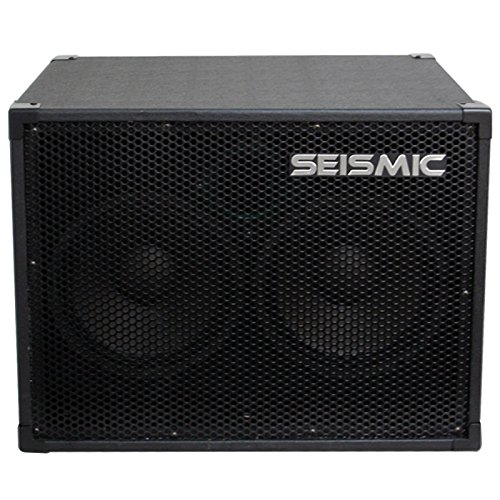 (Seismic Audio - 210 Bass Guitar Speaker Cabinet with Horn and Volume Control PA DJ 200 Watts 2x10 PRO)