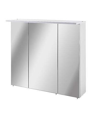 Spiegelschrank holz weiß  Schildmeyer Spiegelschrank, Holz, 70,5 x 16 x 73 cm, weiß: Amazon.de ...