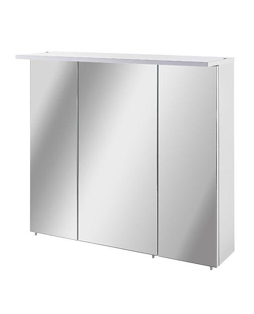 Schildmeyer Spiegelschrank, Holz, 70,5 x 16 x 73 cm, weiß: Amazon ... | {Spiegelschrank holz weiß 38}