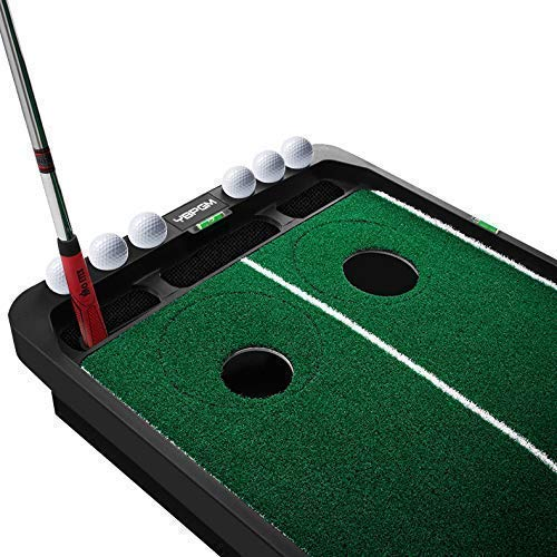 YBPGM 360° Rotory Golf Putting Auto Return System Professional Practice Green Long Challenging Putter Indoor/Outdoor Golf Training Mat Aid Equipment by YBPGM (Image #6)