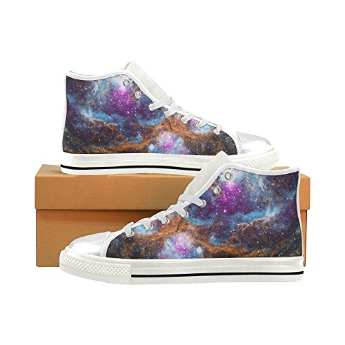 InterestPrint galaxy Classic High Top Canvas Shoes for Women aLgaJ3eHv