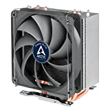 ARCTIC Freezer 33 CO – Semi Passive Tower CPU Cooler for Intel 115X/2011-3 and AMD AM4 with 120 mm PWM Fan, Silent high Performance Cooler up to 150W TDP – Grey/Black