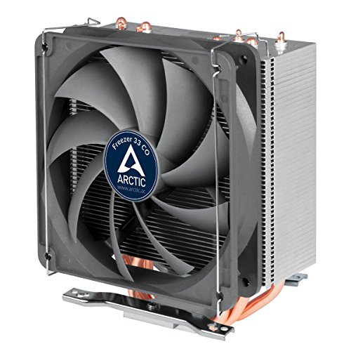 ARCTIC Freezer 33 CO - Semi Passive Tower CPU Cooler for Intel 115X/2011-3 and AMD AM4 with 120 mm PWM Fan, Silent high Performance Cooler up to 150W TDP - Grey/Black