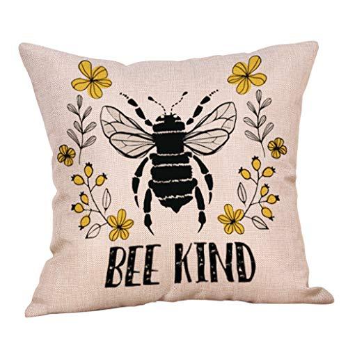 Home & Garden - Pillow Case,Home Decor Cushion Cover BEE KIND Pillowcase Sofa Throw Pillow Cover