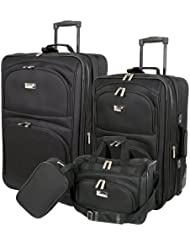 Geoffrey Beene Westchester 4 Piece Set, Black, One Size