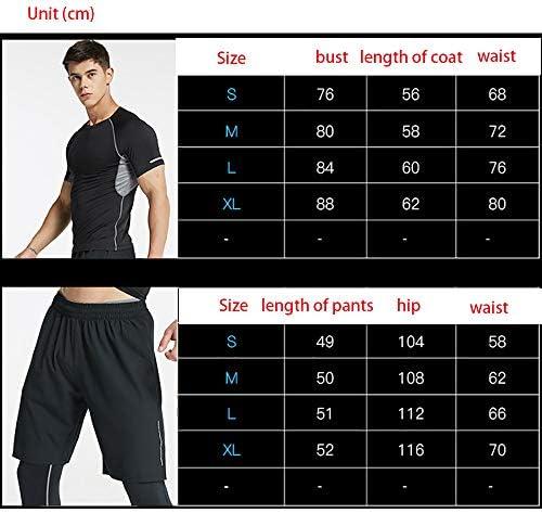 レディースジャージ上下セット フィットネスワークアウトスポーツジョギングスーツスポーツウェアメンズランニングセットジム服弾性圧縮タイツ 吸汗 速乾 (Color : Black, Size : S)
