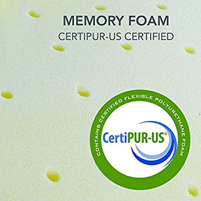 Classic Brands 2-Inch Memory Foam Mattress Topper