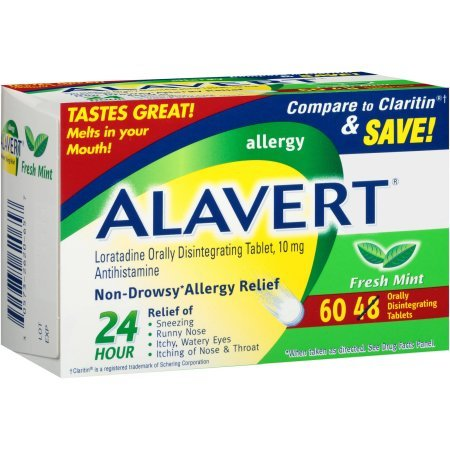 Alavert Allergy Orally Disintegrating Tablets 10 mg Original Flavor 60ct Disintegrating Tablets