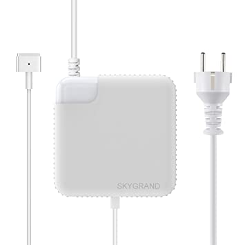 Cargador Macbook Air, SkyGrand Adaptador de potencia MagSafe 2 de 45W para Apple MacBook Air de 11 pulgadas y 13 pulgadas A1466 / A1465 / A1436 / ...
