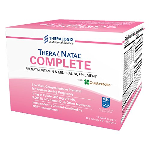 TheraNatal Complete | Prenatal Vitamin & Mineral supplement (13 week supply) (Prenatal Iodine Vitamins)