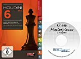 "Software : Houdini 6 PRO Chess Playing Software Program bundled with ""Chess Masterpieces"" Ebook on CD"